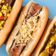 In New York, the simple dog reigns supreme. A hot dog in the Big Apple is traditionally topped with a spicy brown mustard and either sauerkraut or onions sautéed with tomato paste. Our sauerkraut gets an extra kick of flavor from chili powder and beer. Recipe: Beer-Steeped Sauerkraut