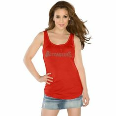 Touch by Alyssa Milano Tampa Bay Buccaneers Ladies Curve Ball Tank Top - Red