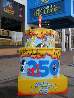 Have you been down to The Delmar Loop to see the awesome Stl250 cakes?