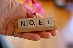 scrabble tile ornament by gabrielle
