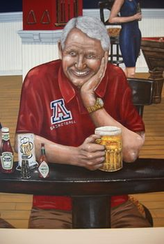 University of Arizona Sports Bar themed Mural by Tom Taylor of Wow Effects - contemporary - Basement - Dc Metro - Wow Effects-Murals and Fine Art