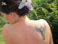 Tattoo with a guardian angel
