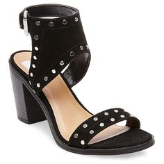 Women's dv Kaiden Studded Heel Quarter Strap Sandals - Black 5.5