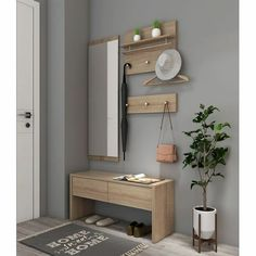 Home Entrance Decor, Entryway Decor, Diy Room Decor, Home Room Design, Home Interior Design, Interior Decorating, Home Decor Furniture, House Rooms, Home Living Room