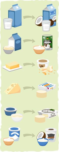Some keto friendly vegan dairy replacement examples.