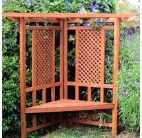 forest garden half burford wooden arbour arbour seat arbors and