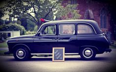 'Alfie' The Black Cab Photo Booth. An original London Cab especially converted into a photo booth for use at Weddings and Parties throughout the UK. Contact Rosie Anderson Wedding Photographer for hire.