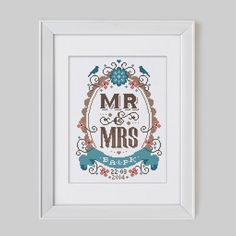 We love this cool Mr and Mrs design by Emma Condgon, it would look great as a cushion!