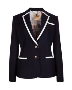 DARIAH | Prep style blazer - Blue | Tailoring | Ted Baker Love the accenting