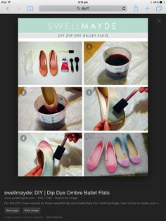 Just a funky look to do with old ballet pumps xx