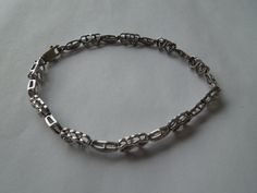 Vintage Silver Bracelet, With Clear Stones and Lots of Hearts, Stamped 925. Sterling Silver  Ask a Question $40.00 USD