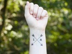 Temporary Tattoo  Arrow Tattoo  Wedding Favor by SymbolicImports, $3.00