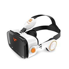 VOX BE VR Brille Virtual Reality Headset 3D-Brille mit Kopfhörer für 4,0 bis 6,2-Zoll-Smartphones Vr Headset, Vox, 3d Glasses, Android, Dashcam, Ip Camera, Virtual Reality, Videos, Helmet