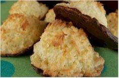 Chocolate dipped coconut macarooms.  Searching for a recipe similar to La Madeleine's.