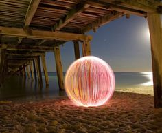 The Ball of Light is a photographic project by Adelaide (Australia) photographer Denis Smith. Denis has taken traditional photography and added a new dimension with his Ball of Light creations. The Ball of Light floats in space transforming various locales into mystical portals bursting with otherworldly colours and energy.