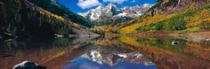 Peter Lik - His color version of the awesome Maroon Bells in Aspen. The reflection and color is amazing! He does not edit the color.