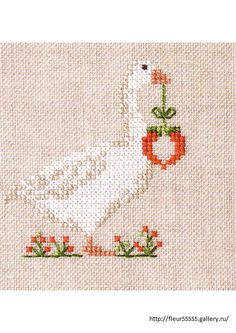 ru / Фото - 91 - No chart Mini Cross Stitch, Cross Stitch Heart, Simple Cross Stitch, Beaded Cross Stitch, Crochet Cross, Cross Stitch Animals, Cross Stitch Embroidery, Embroidery Patterns, Hand Embroidery