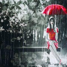 Esperas #red #black #femme #foto #fotografia #photography
