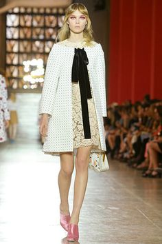 Love this modern take on classic pieces by Miu Miu.