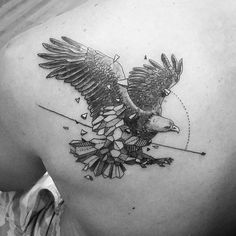 #mulpix #eagle #different #style #geometric #tattoo #not #my #design #beratbumin #baykuşevi #inprogress