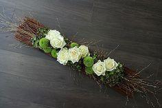 Artist: Pleione - My site Church Wedding Flowers, Wedding Wreaths, Funeral Flowers, Deco Floral, Arte Floral, Floral Design, Grave Decorations, Flower Decorations, Wedding Decorations