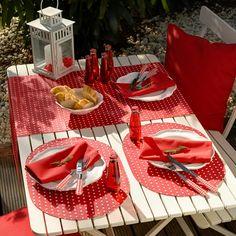 Abwaschbar: BISTRO PUNTO  Tischsets und Tischläufer von Sander