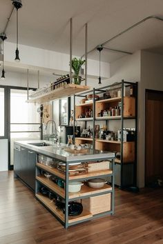 25 Wonderful Industrial Kitchen Ideas That. If you are looking for Industrial Kitchen Ideas That, You come to the right place. Below are the Industrial Kitchen Ideas That. This post about Industrial . Industrial Kitchen Design, Industrial House, Design Kitchen, Vintage Industrial, Industrial Lighting, Rustic Industrial Kitchens, Modern Lighting, Industrial Table, Rustic Furniture
