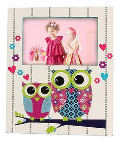 White & Blue Owl Picture Frame