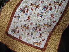Little Buckaroo Vintage Cowboy Quilt. $105.00, via Etsy.