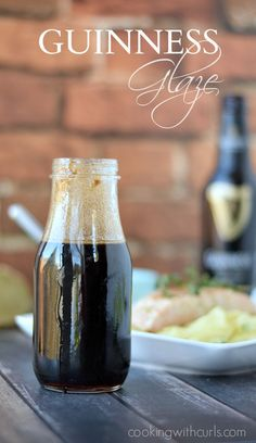 Guinness Glaze is perfect on burgers, salmon, and shrimp | cookingwithcurls.com