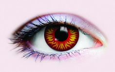 """Crazy Colored Contact Lenses """"Flame On"""""""