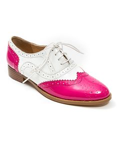 Too fun! If this was my style, i would totally buy them.im just too mature for this look now. Look at this Pink Frenchy Leather Oxford by French Blu Cute Shoes, Me Too Shoes, Men's Shoes, Shoe Boots, Dress Shoes, Saddle Shoes, Pretty Shoes, Tap Shoes, Brogues
