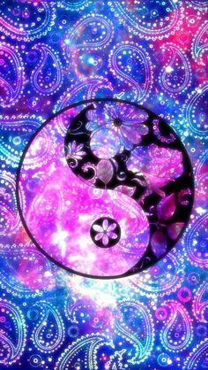 Wallpaper by artist unknown energy healing Cute Galaxy Wallpaper, Glitter Wallpaper, Love Wallpaper, Colorful Wallpaper, Cute Wallpaper Backgrounds, Pretty Wallpapers, Cellphone Wallpaper, Iphone Wallpaper, Ying Yang Wallpaper
