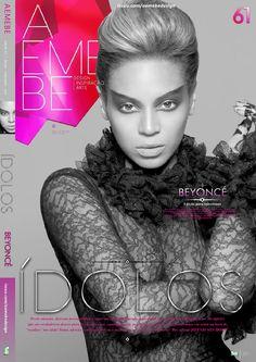 AEMEBE 61 Beyoncé  AEMEBE #61 vem com 13 opções de capas trazendo a série ÍDOLOS com alguns dos maiores ídolos do planeta. O terceiro fascículo com a diva Beyoncé.  A série ÍDOLOS, da edição 61, dá a vez para a diva Beyoncé!  Curta, dançe e vibre!