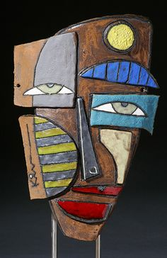 Large View / Sculpture by Kimmy Cantrell http://www.kimart.com/PicturePages/faces.html