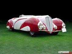 1937 lahaye 135 m figoni et falaschi cabriolet.
