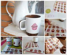 Decoupage con servilletas de papel cómo decorar tazas paso a paso 1