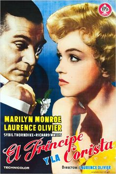 """""""The Prince and The Showgirl"""", starring Marilyn Monroe and Laurence Olivier. Directed by Laurence Oliver, 1957."""