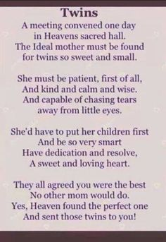 quotes for mommys with twins | Via The Twins Gift Company