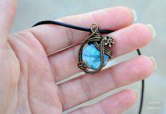 Beautiful Labradorite wire wrapped pendant  OOAK by Ianira on Etsy