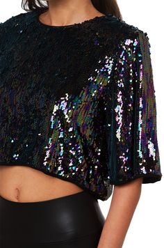 The LA Hills Eggplant Sequin Top features a scoop neckline, single button back closure, short sleeves, and an open back. Free standard U.S. shipping $75+. Sequin Top, Sequin Skirt, Sexy Dresses, Cute Dresses, Pink Tulle Skirt, Cute Crop Tops, Platform Shoes, Eggplant, Latest Trends