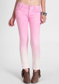 #DIY pink ombre skinnys