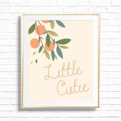 Little Cutie Orange Clementine Nursery Art Print Printable | Etsy Baby Nursery Themes, Nursery Sets, Baby Decor, Girl Nursery, Clementine Art, Nursery Neutral, Neutral Nurseries, Baby Monogram, Nursery Inspiration