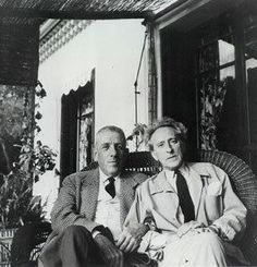 Two great French artists - composer Francis Poulenc & writerJean Cocteau.