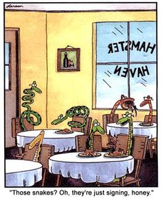 Deaf snake signing! Kissfist!