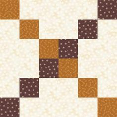 Have Fun Playing with Colors for Six Grid Chain Quilt Blocks: Six Grid Chain is a Linking Quilt Block