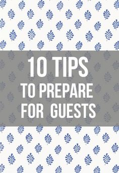 Company coming? 10 Tips To Prepare For House Guests House Guests, Better Homes And Gardens, Clean House, Home Organization, Organizing Ideas, Housekeeping, Homemaking, Lifehacks, Nice List