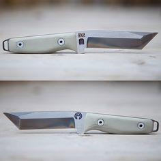 #knife #knifemaking #afisherknives #d2toolsteel #tacticalgentleman #bespoke #handmade and #cnc #oldmeetsnew #newschool #oldschool #tanto #g10 #ilovethisshit