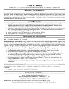 health care resume objective sample httpjobresumesamplecom843