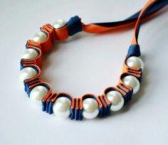 Beads and ribbon bracelet